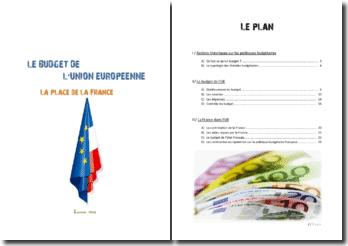 La place de la France dans le budget de l'Union européenne