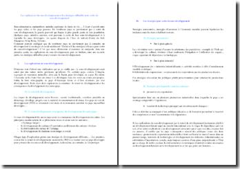 Les explications du sous-développement et les stratégies utilisables pour sortir du sous-développement ?