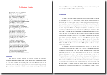 Voltaire, Le Mondain : commentaire