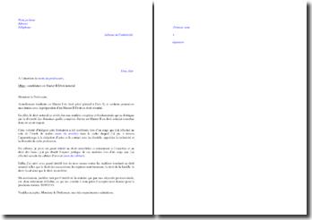 Lettre de motivation pour intégrer un Master 2 en Droit notarial