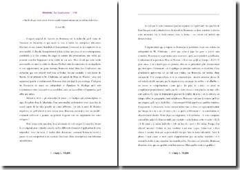 Jean-Jacques Rousseau, Confessions, Livre III : deux choses presque inalliables...