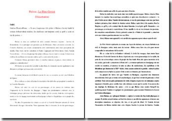 Réalisme et poésie dans Le Père Goriot de Balzac