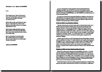 Lamartine, Médiations poétiques, Le Lac : explication linéaire