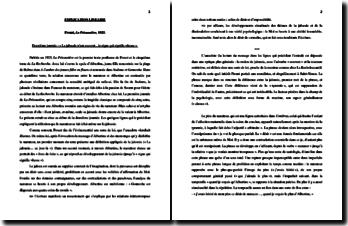 Marcel Proust, A la recherche du temps perdu, La Prisonnière: commentaire linéaire