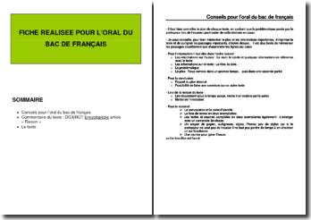 Diderot, Encyclopédie, Raison : commentaire