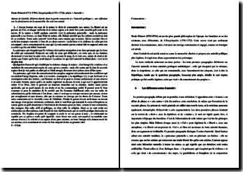 Denis Diderot, Encyclopédie, Autorité