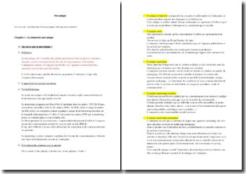 Introduction à la mercatique : démarche mercatique, analyse du marché et étude du consommateur