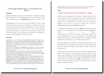 Romain Gary, La Vie devant soi, Incipit : commentaire composé
