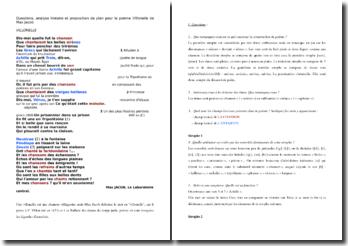 Max Jacob, Le laboratoire central, Villonelle : étude linéaire