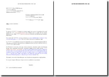 Lettre de recours en contentieux contre un refus ou une sous-estimation de l'allocation personnalisée d'autonomie