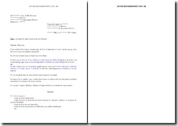 Modèle de lettre de demande de dégrèvement de la taxe foncière