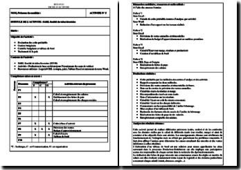 Activité Professionnelle de Synthèse (APS) : SARL Société de tubes brestoise