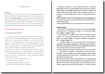 Blaise Cendrars, Académie Médrano : commentaire