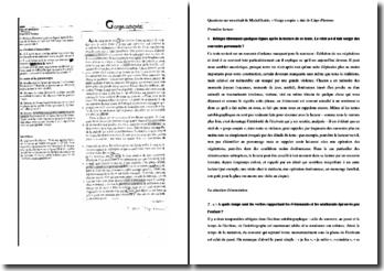 Questions corrigées sur un extrait de L'âge d'homme de Michel Leiris (Collège)