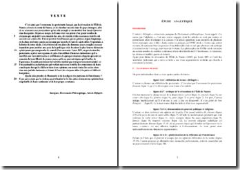 Dictionnaire Philosophique, Réfugiés : commentaire
