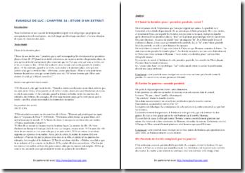 Luc, Evangile, Chapitre 14, Extrait : étude linéaire