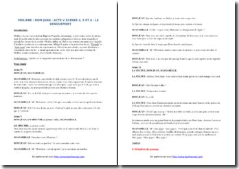 Molière, Dom Juan, Acte V scènes 4, 5 et 6, Le dénouement : étude linéaire