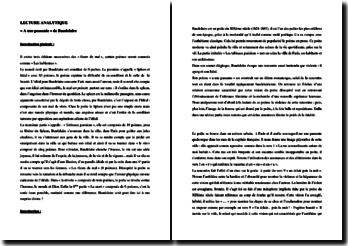 Baudelaire, Les Fleurs du Mal, A une passante : commentaire composé
