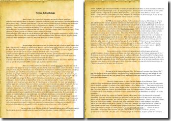 Préface d'une anthologie de poèmes : thématique de l'amour