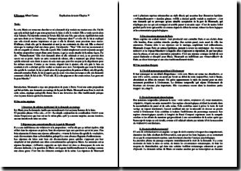 Camus, L'Etranger, Partie 1 Chapitre 5, La demande en mariage : analyse