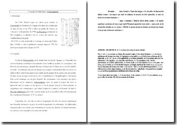 Présentation de L'Encyclopédie de Diderot et d'Alembert