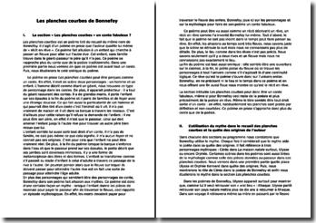 Yves Bonnefoy, Les planches courbes : conte et mythe