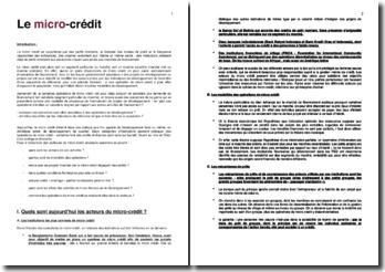 Le micro-crédit