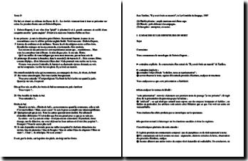 Jean Tardieu, La Comédie du langage, Il y avait foule au manoir : plan