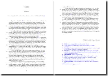 Voltaire, Candide, Chapitre 1 : étude analytique
