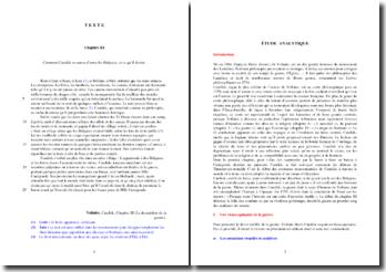 Voltaire, Candide, Chapitre III, La description de la guerre : étude analytique