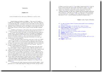 Voltaire, Candide, Chapitre XVII, Extrait : étude analytique