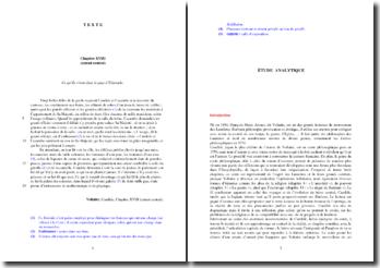 Voltaire, Candide, Chapitre XVIII, Extrait : analyse