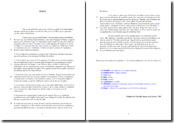 Voltaire, De l'horrible danger de la lecture : analyse