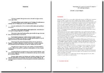 Montesquieu, De l'esprit des lois, Chapitre V, Livre XV, De l'esclavage des nègres : analyse