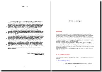 Guy de Maupassant, Bel-Ami, Chapitre 1, Extrait : analyse