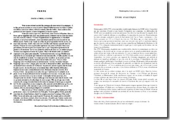 Montesquieu, Lettres persanes, Lettre III, Zachi à Usbek, A Tauris