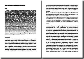 Marcel Proust, Sur la lecture : commentaire d'un extrait
