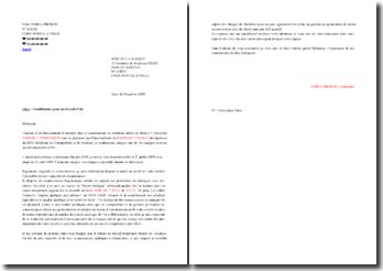 Lettre type de candidature pour un job d'été dans une banque (secteur banque privée)