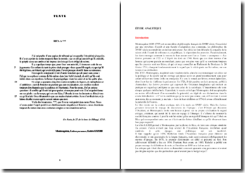 Montesquieu, Lettres persanes, Lettre LXXIII : commentaire