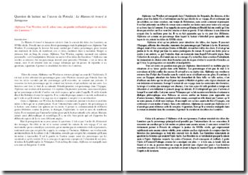 Potocki, Le manuscrit trouvé à Saragosse : la question d'Alphonse Van Worden