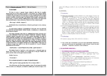 Gustave Flaubert, L'Education sentimentale, Bal chez Rosanette : plan de commentaire