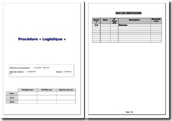 Exemple de procédure logistique