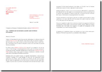 Lettre de motivation pour une admission en bi-licence droit-allemand