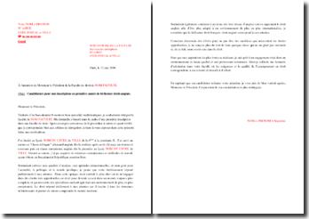 Lettre de motivation pour une admission en bi-licence droit-anglais