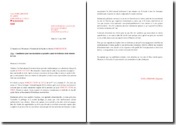 Lettre de motivation pour une admission en bi-licence droit-histoire de l'art