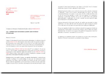 Lettre de motivation pour une admission en bi-licence droit-philosophie