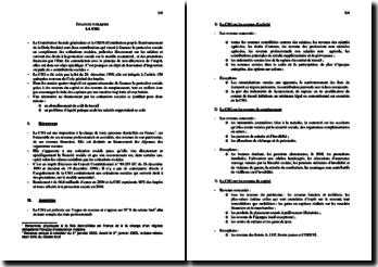La Contribution Sociale Généralisée (CSG) : assiettes, taux, etc.