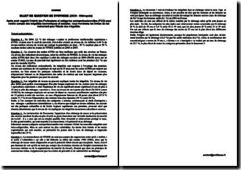 Corrigé du sujet de synthèse de SES - Bac 2009