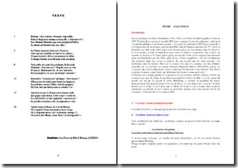 Charles Baudelaire, Les Fleurs du Mal, L'Horloge (LXXXV) : analyse