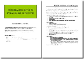 Patrick Süskind, Le parfum, Chapitre 8 : plan de commentaire